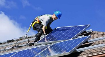 Home solar panel installation process