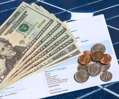 Cost of electricity from solar panels versus utility companies like PG&E and SMUD